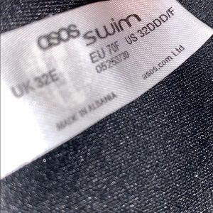 ASOS Swim - ASOS Minimalist Wrap Grommet Tie Black Bikini Top